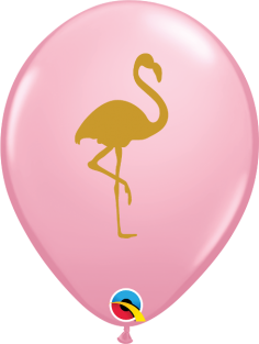 "11"" RND PINK FLAMINGO 50CT"
