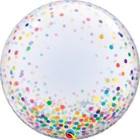"24"" DECO BUBBLE COLORFUL CONFETTI DOTS (PK)"