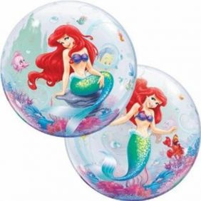 "22"" THE LITTLE MERMAID(PK) SINGLE BUBBLE"
