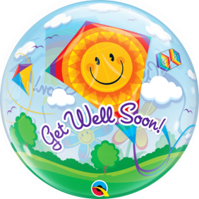 "22"" GET WELL SOON! KITES (PK) S.BUBBLE"