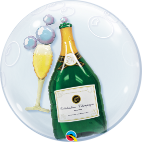 "24"" BUBBLY WINE BOTTLE&GLASS(PK)D.BUBBLE"