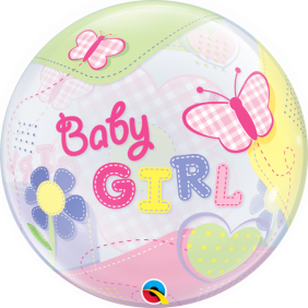 "22"" BABY GIRL BUTTERFLIES (PK)S.BUBBLE"