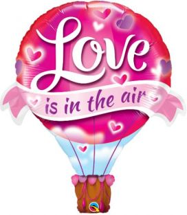 "42"" SHAPE LOVE IS IN THE AIR BLN(PK)"