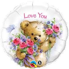 "18"" RND LOVE YOU TEDDY BEAR (PK)"