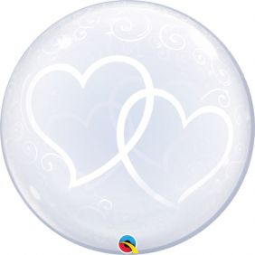 "24"" DECO BUBBLE ENTWINED HEARTS (PK)"
