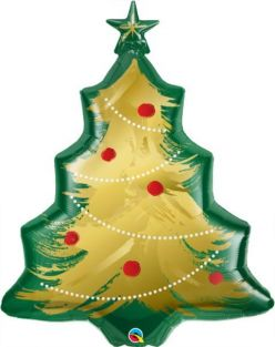 "40"" SHAPE CHRISTMAS TREE BRUSHED GOLD (PK)"