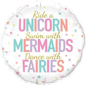 "18"" RND UNICORN/MERMAIDS/FAIRIES(PK)"
