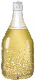"39"" SHAPE GOLDEN BUBBLY WINE BOTTLE (PK)"