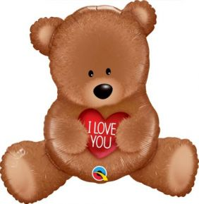 "35"" SHAPE I LOVE YOU TEDDY BEAR (PK)"