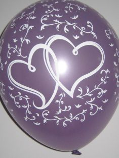 """11"""" RND ENTWINED HRTS P.LAVENDER 100CT"""