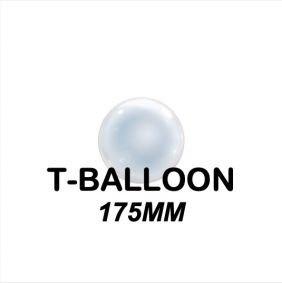 "T-BALLOON CLEAR RND 07"" (175MM) 10CT"