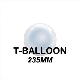 "T-BALLOON CLEAR RND 09"" (235MM) 10CT"