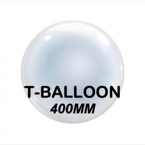 "18"" T-BALLOONS CLEAR (400MM) 10CT"