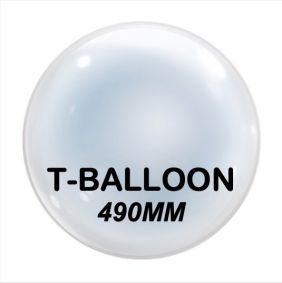 "22"" T-BALLOONS CLEAR (490MM) 10CT"