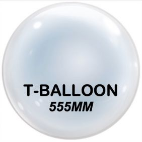 "T-BALLOON CLEAR RND 24"" (555MM) 10CT"