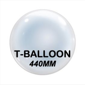 "T-BALLOON CLEAR RND 20"" (440MM) 10CT"