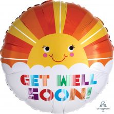 "18"" RND GET WELL SOON SMILEY SUNSHINE"