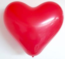 "12"" HEART RED 100CT"