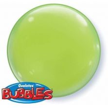 "15"" LIME GREEN SOLID-COLOR BUBBLE  (4PC/PK)"