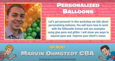 Personalized Balloons with Marvin Ohmstedt,CBA
